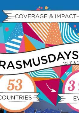 Grafisk bild över deltagande i Erasmusdays 2019